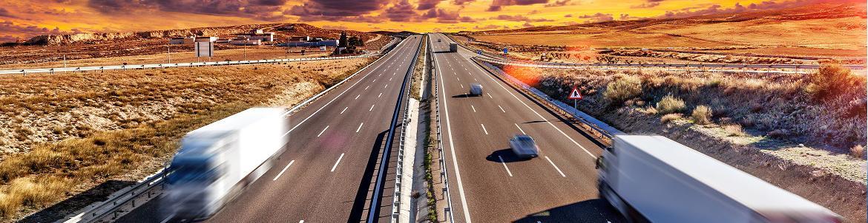 autoroute coucher de soleil