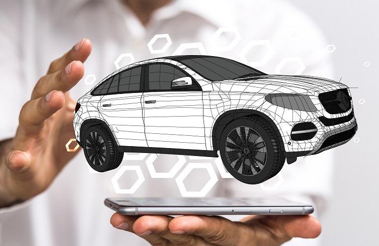 tablette hologramme voiture